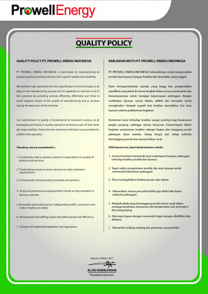 Quality Policy - AKF